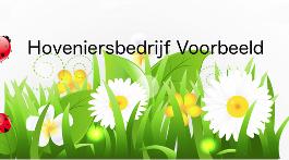 Logo Voorbeeld Hoveniersbedrijf  Amersfoort